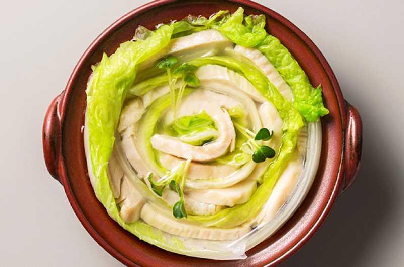白菜とチキンのミルフィーユ鍋